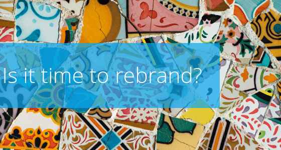 Rebranding is a natural part of marketing