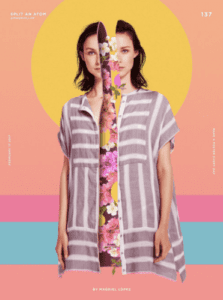 Creativity in your photo editing, women split in half by floral print